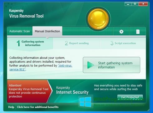 Скриншот программы Kaspersky Virus Removal Tool для Windows 8
