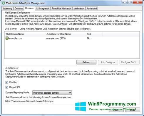 Скриншот программы Microsoft ActiveSync для Windows 8