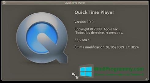 Скриншот программы QuickTime для Windows 8