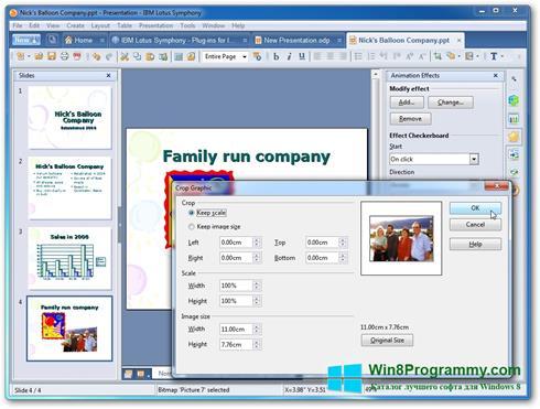Скриншот программы Lotus Symphony для Windows 8