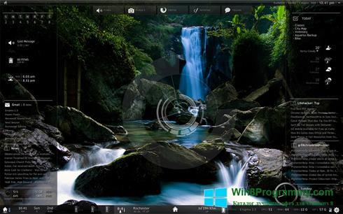 Скриншот программы Rainmeter для Windows 8