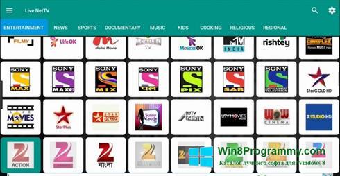 Скриншот программы Net TV для Windows 8