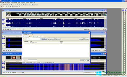 Скриншот программы Sound Forge для Windows 8