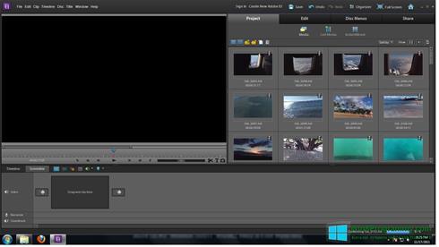 Скриншот программы Adobe Premiere Elements для Windows 8