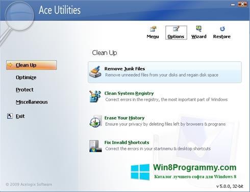Скриншот программы Ace Utilities для Windows 8