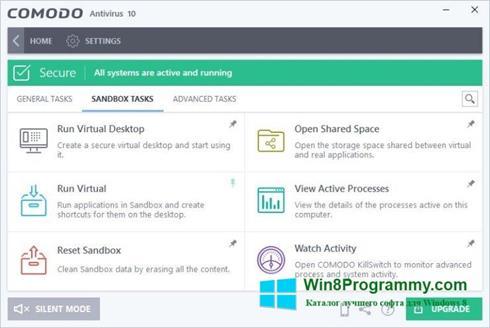 Скриншот программы Comodo Antivirus для Windows 8