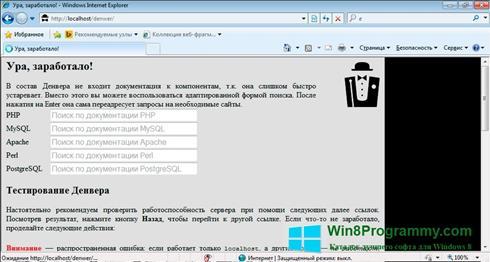 Скриншот программы Denwer для Windows 8