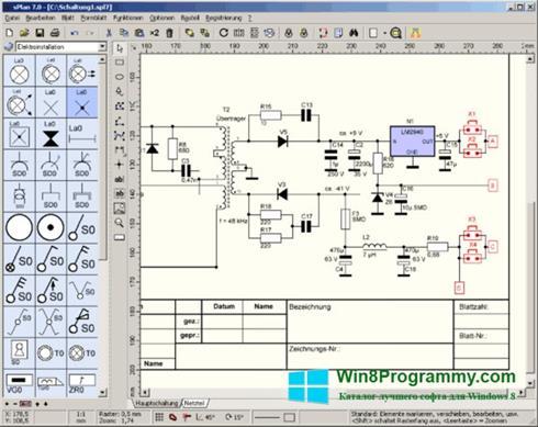Скриншот программы sPlan для Windows 8