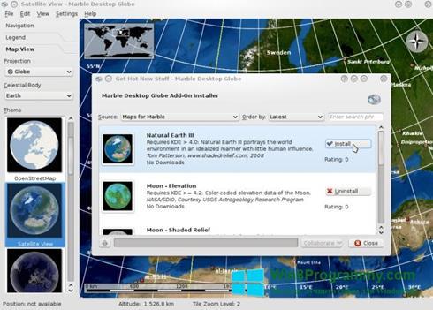 Скриншот программы Marble для Windows 8