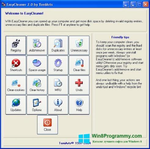 Скриншот программы EasyCleaner для Windows 8