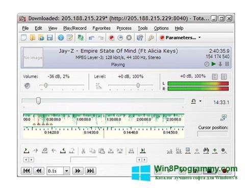 Скриншот программы Total Recorder для Windows 8