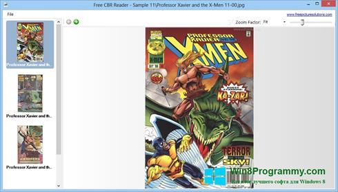 Скриншот программы CBR Reader для Windows 8