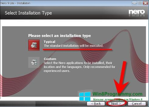 Скриншот программы Nero Lite для Windows 8