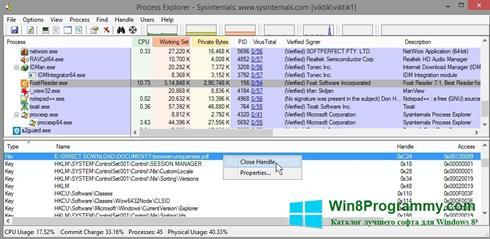 Скриншот программы Process Explorer для Windows 8