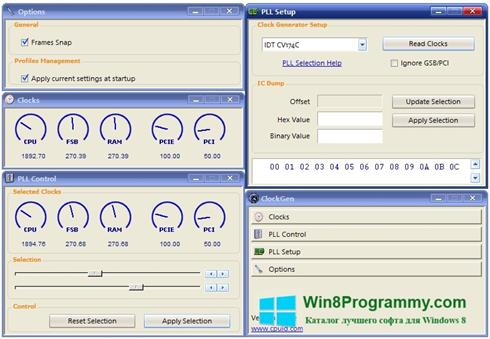 Скриншот программы ClockGen для Windows 8