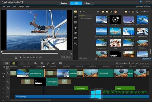 Скриншот программы Corel VideoStudio для Windows 8