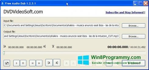Скриншот программы Free Audio Dub для Windows 8