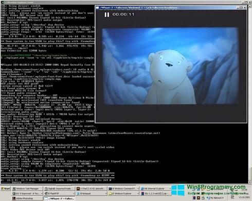 Скриншот программы MPlayer для Windows 8