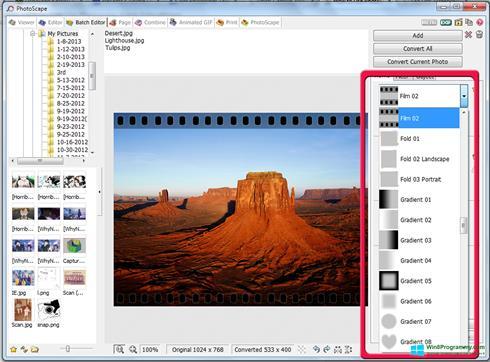 Скриншот программы Photoscape для Windows 8