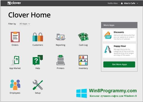 Скриншот программы Clover для Windows 8