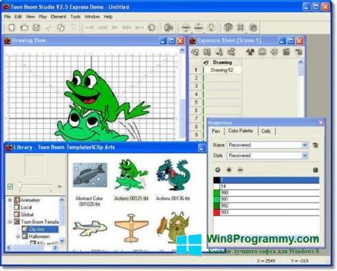 Скриншот программы Toon Boom Studio для Windows 8