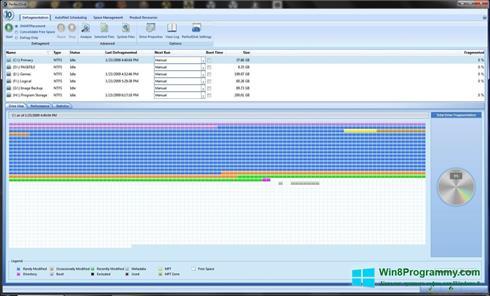Скриншот программы PerfectDisk для Windows 8