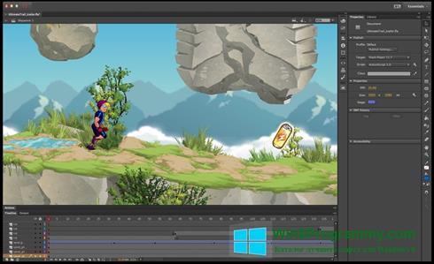Скриншот программы Adobe Flash Professional для Windows 8