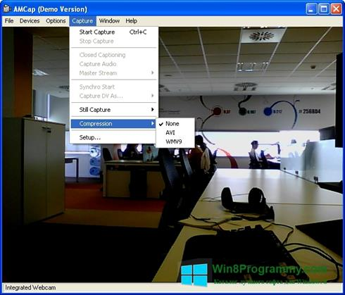 Скриншот программы AMCap для Windows 8