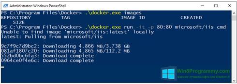 Скриншот программы Windows PowerShell для Windows 8