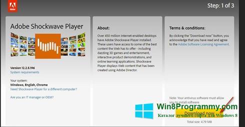 Скриншот программы Shockwave Player для Windows 8
