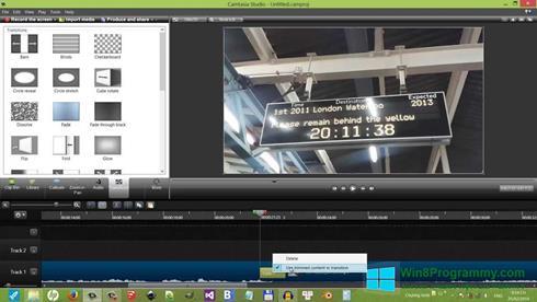 Скриншот программы Camtasia Studio для Windows 8