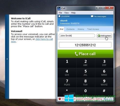 Скриншот программы iCall для Windows 8