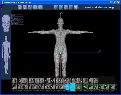 Скриншот программы MakeHuman для Windows 8