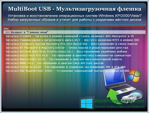 Скриншот программы MultiBoot USB для Windows 8