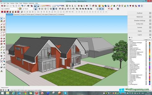 Скриншот программы SketchUp для Windows 8