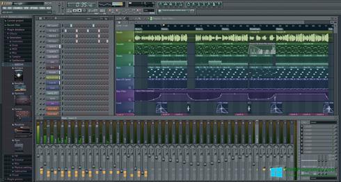 Скриншот программы FL Studio для Windows 8