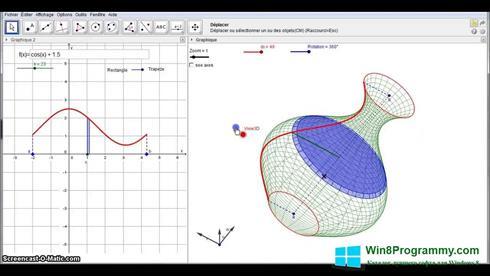 Скриншот программы GeoGebra для Windows 8