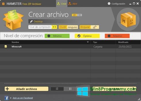 Скриншот программы Hamster Free ZIP Archiver для Windows 8