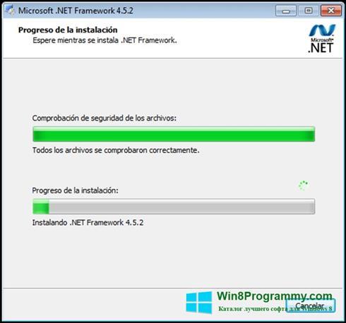 Скриншот программы Microsoft.NET Framework для Windows 8