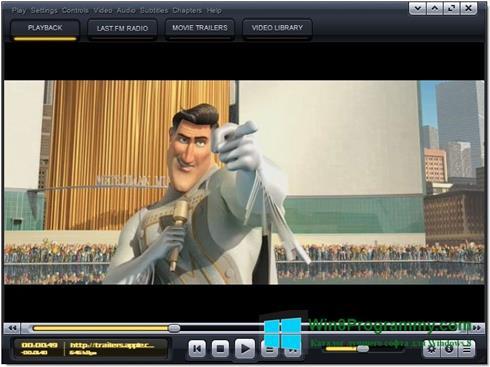 Скриншот программы Kantaris Media Player для Windows 8