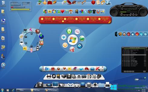Скриншот программы ObjectDock для Windows 8
