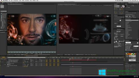 Скриншот программы Adobe After Effects для Windows 8