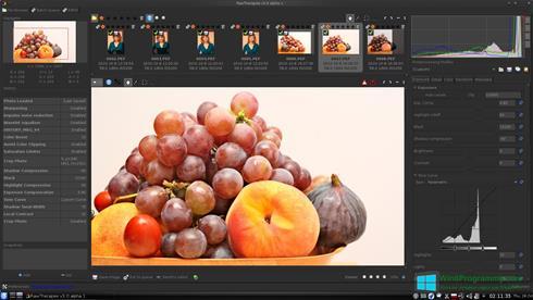 Скриншот программы RAWTherapee для Windows 8