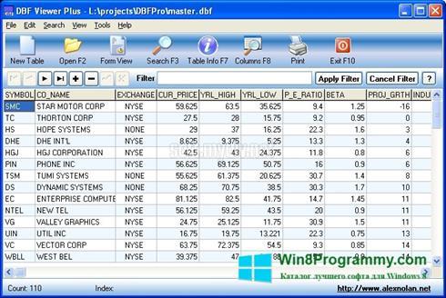 Скриншот программы DBF Viewer для Windows 8