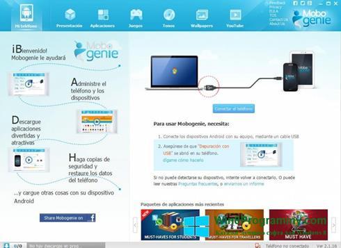 Скриншот программы Mobogenie для Windows 8
