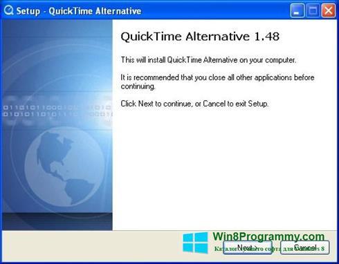 Скриншот программы QuickTime Alternative для Windows 8