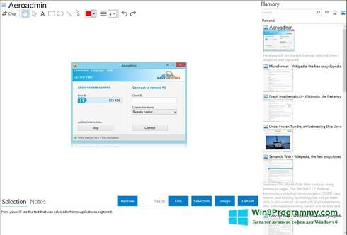 Скриншот программы AeroAdmin для Windows 8