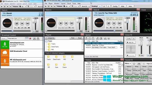 Скриншот программы SAM Broadcaster для Windows 8