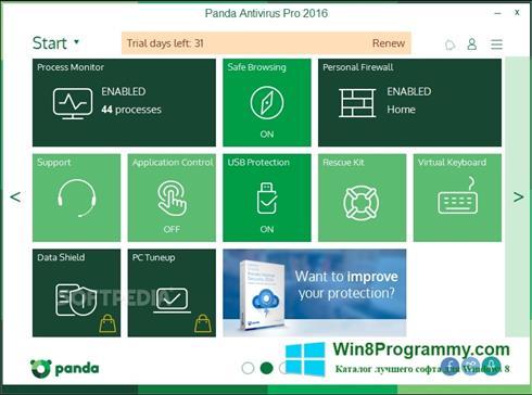 Скриншот программы Panda для Windows 8