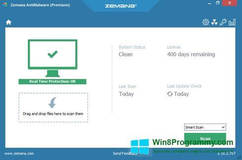 Скриншот программы Zemana AntiMalware для Windows 8